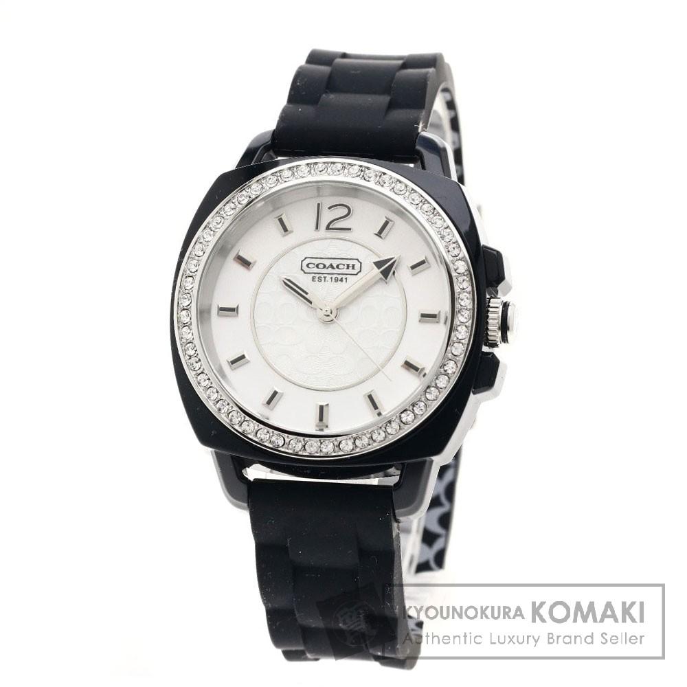 COACH CA.43.7.29.0589S 腕時計 ステンレス/ラバー レディース 【中古】【コーチ】