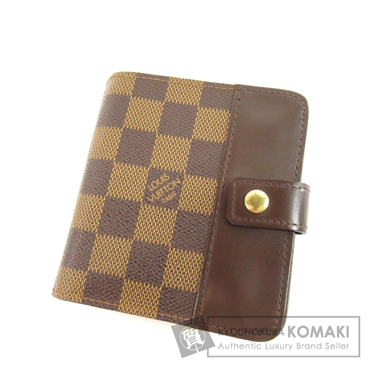 LOUIS VUITTON N61668 ダミエ コンパクト・ジップ 二つ折り財布(小銭入れあり) ダミエキャンバス レディース 【中古】【ルイ・ヴィトン】