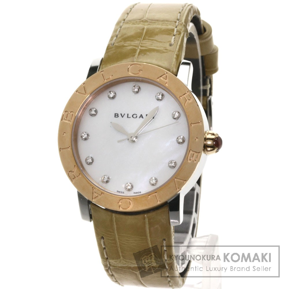 BVLGARI BBLP33SG ブルガリブルガリ 腕時計 ステンレス/革/K18PG レディース 【中古】【ブルガリ】