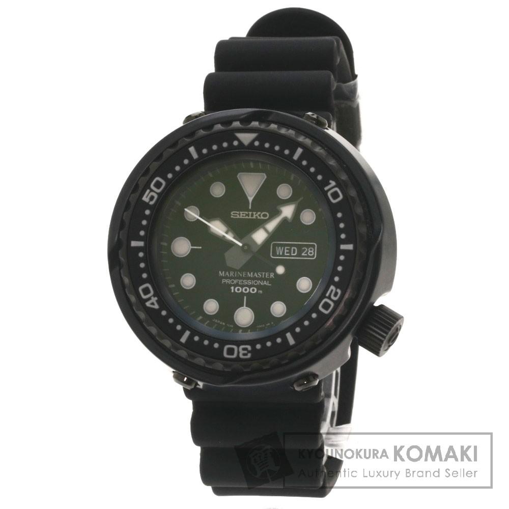 SEIKO 7C46-0AA0 SBBN013 プロスペック マリンマスター ダイバー 腕時計 SS/セラミック/チタン/ラバー メンズ 【中古】【セイコー】