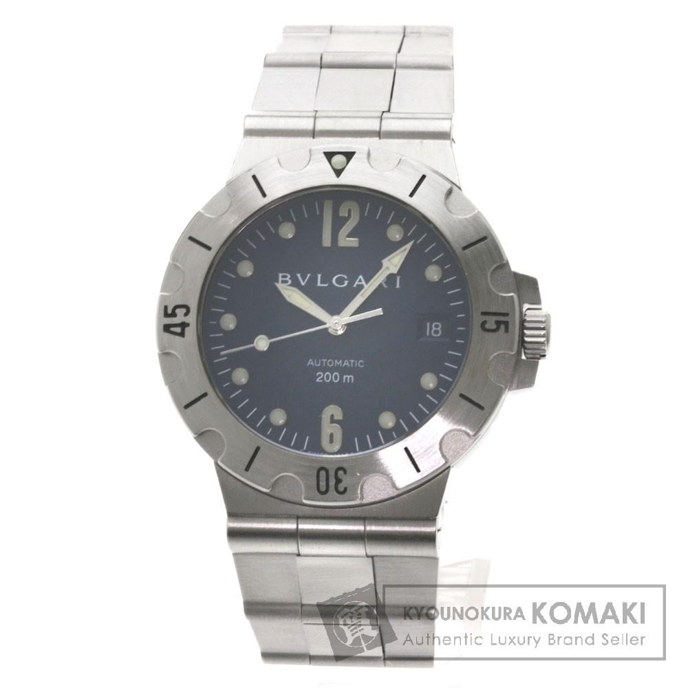 BVLGARI SD38S ディアゴノ スクーバ 腕時計 OH済 ステンレス メンズ 【中古】【ブルガリ】