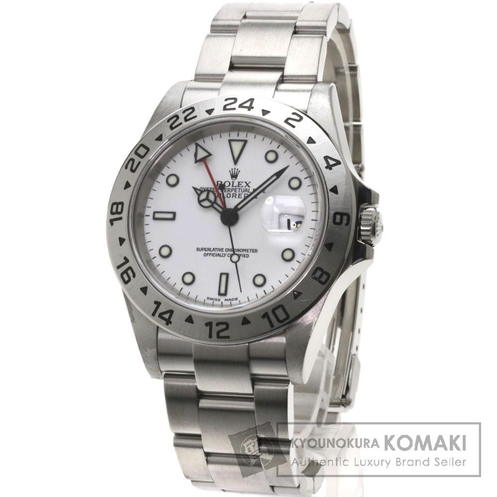 ROLEX 16570T エクスプローラー2 腕時計 OH済 ステンレス メンズ 【中古】【ロレックス】