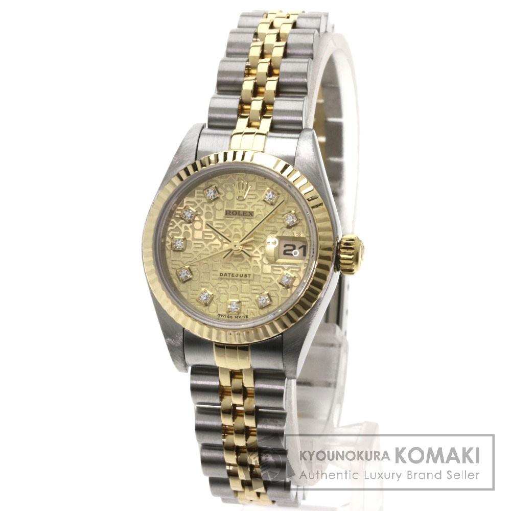 ROLEX 79173G デイトジャスト 10Pダイヤモンド 腕時計 OH済 ステンレス/K18YG レディース 【中古】【ロレックス】