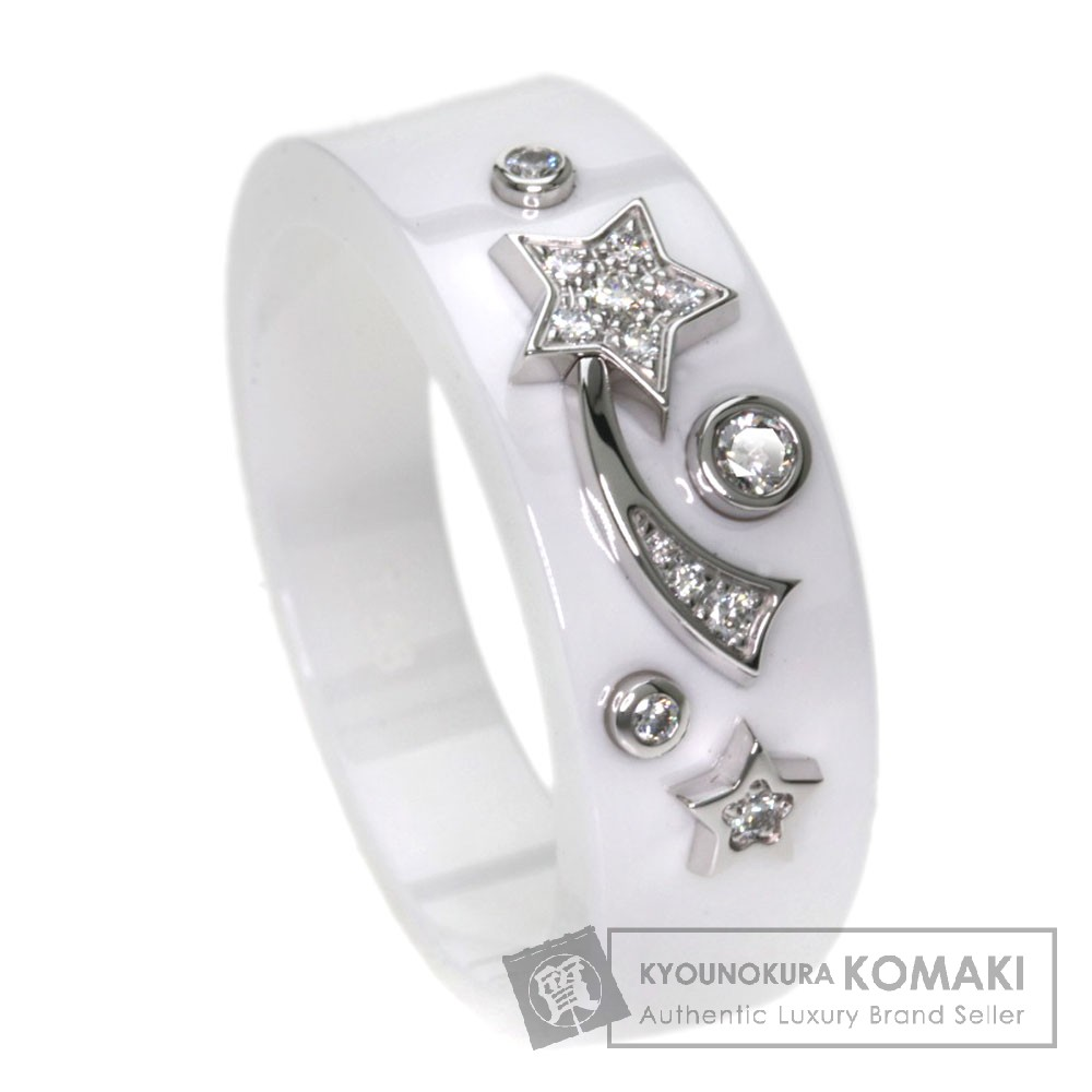 CHANEL コメットコレクション ダイヤモンド J10399 リング・指輪 セラミック/K18WG レディース 【中古】【シャネル】