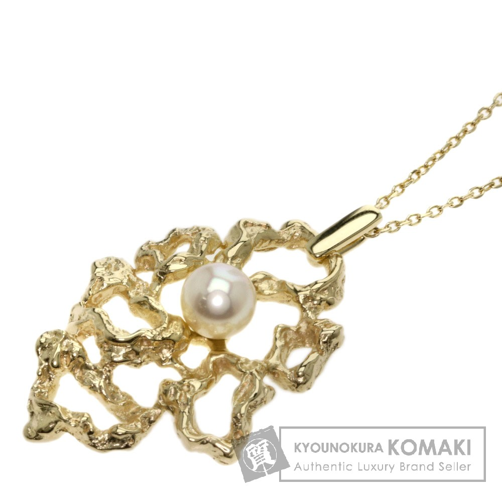 MIKIMOTO 真珠 ネックレス K14YG レディース 【中古】【ミキモト】