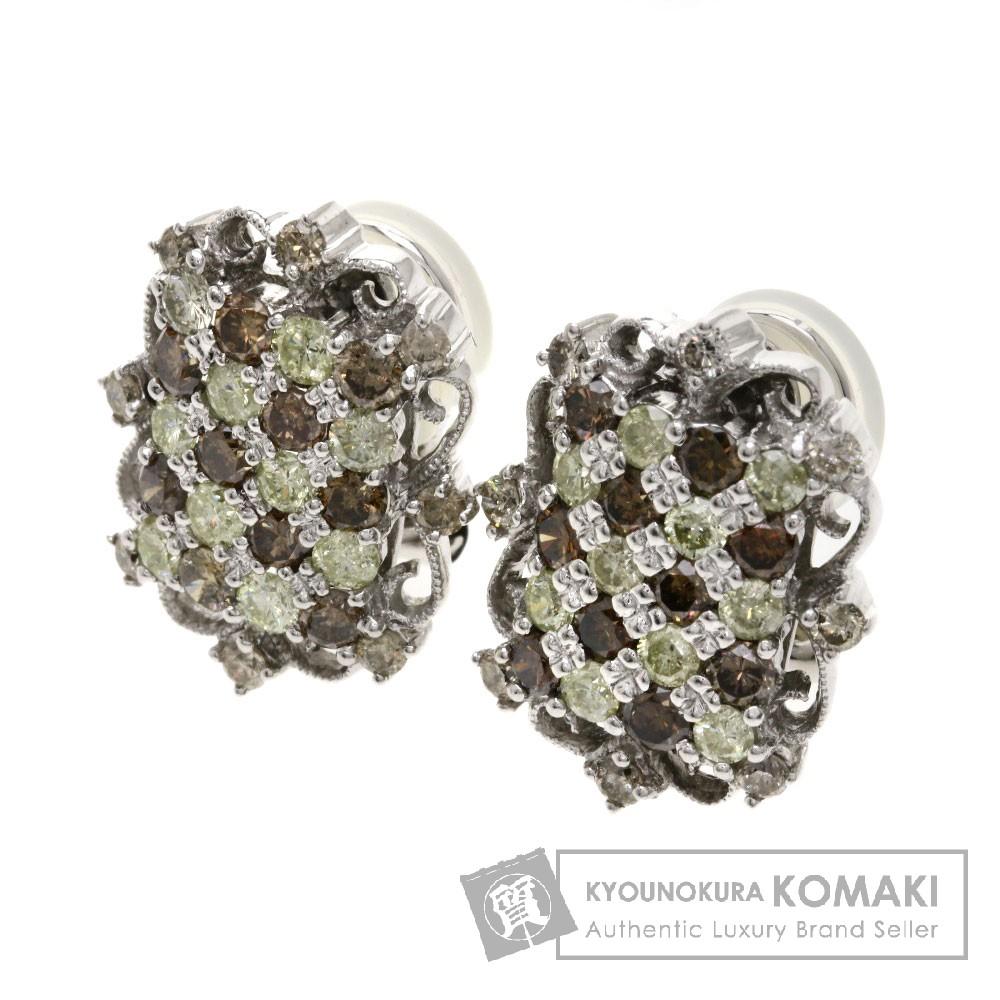 1.25ct ダイヤモンド イヤリング K18ホワイトゴールド 7.7g レディース 【中古】