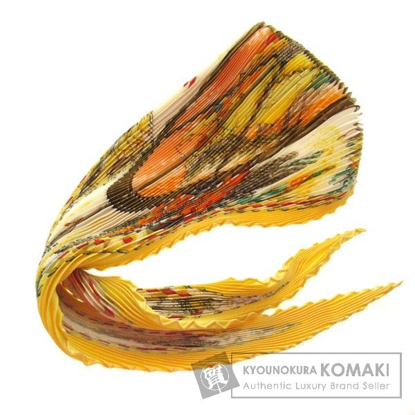 HERMES プリーツ スカーフ シルク レディース 【中古】【エルメス】