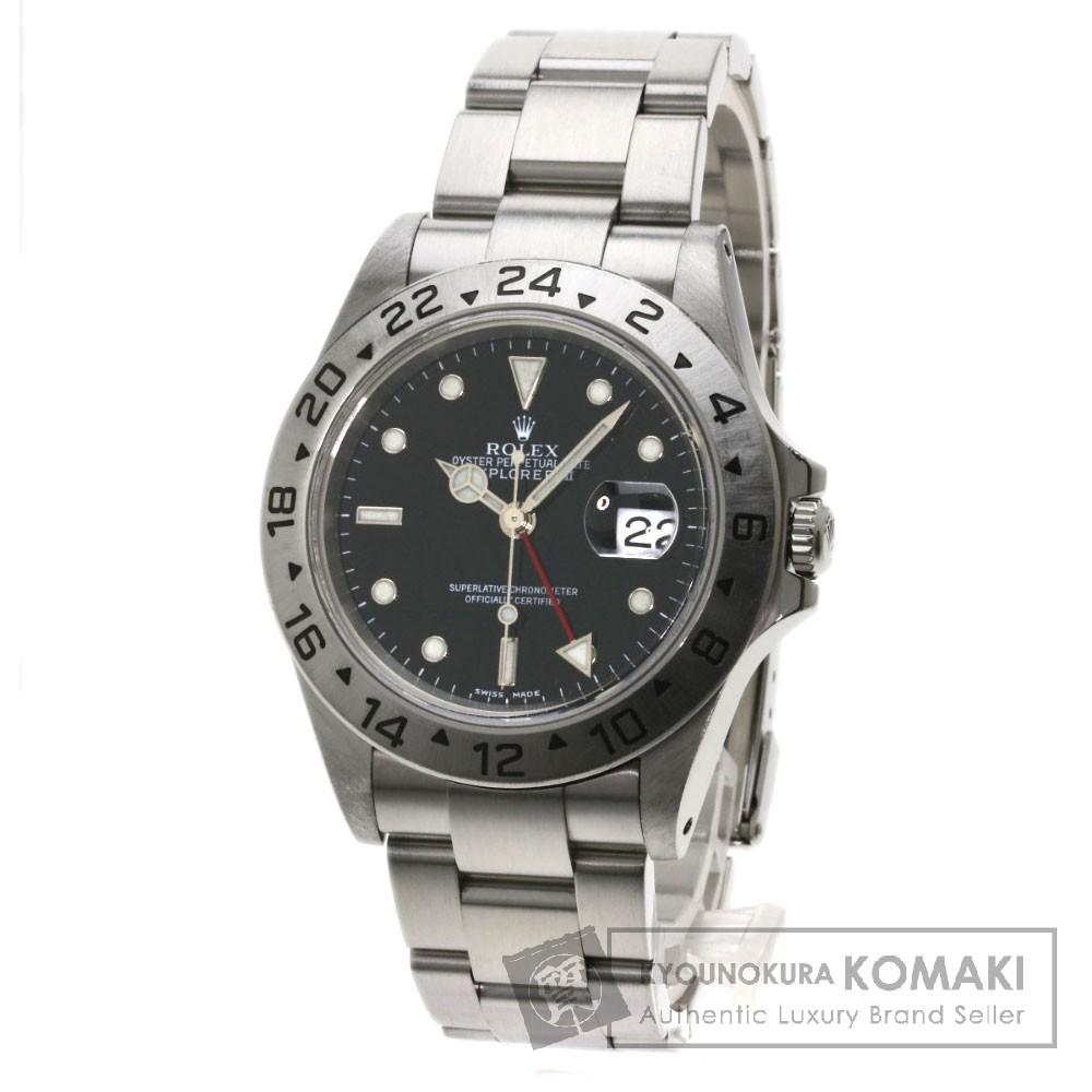 ROLEX 16570 エクスプローラー2 腕時計 OH済 ステンレス/SS メンズ 【中古】【ロレックス】
