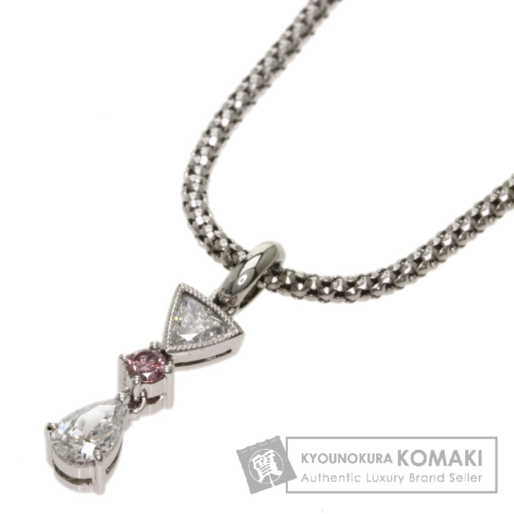 0.399ct ダイヤモンド ネックレス K18ホワイトゴールド 5.5g レディース 【中古】