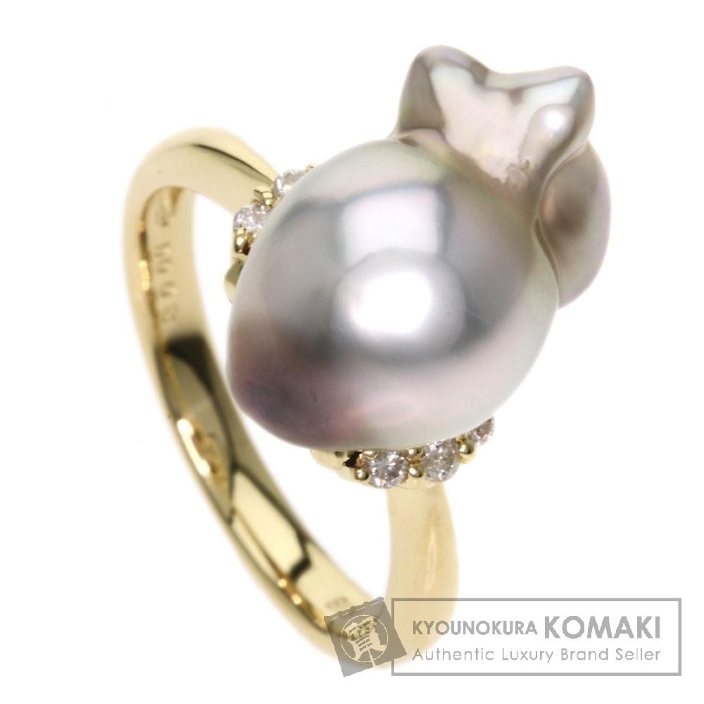 バロックパール/真珠 ダイヤモンド リング・指輪 K18イエローゴールド 5.2g レディース 【中古】