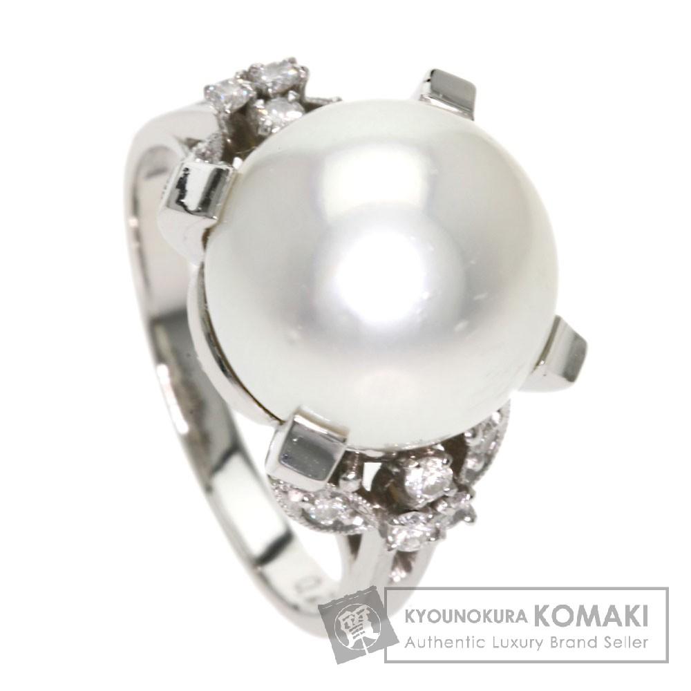 パール/真珠 ダイヤモンド リング・指輪 プラチナPM850 9.1g レディース 【中古】