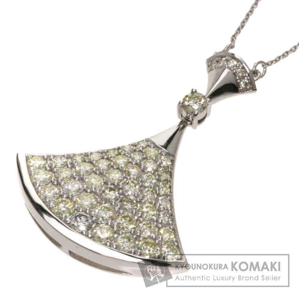 2ct ダイヤモンド ネックレス K18ホワイトゴールド 6.2g レディース 【中古】