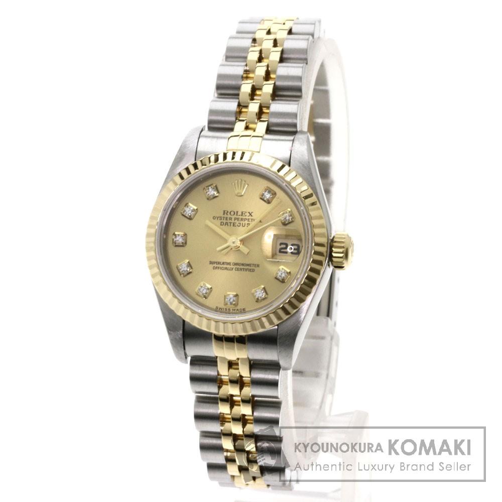 ROLEX 79173G デイトジャスト 10Pダイヤモンド 腕時計 ステンレス/SSxK18YG レディース 【中古】【ロレックス】