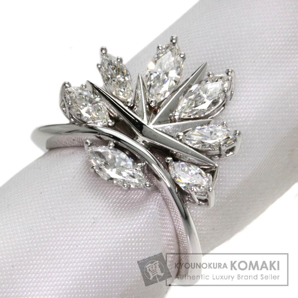 ダイヤモンド リング・指輪 K18ホワイトゴールド 7.3g レディース 【中古】