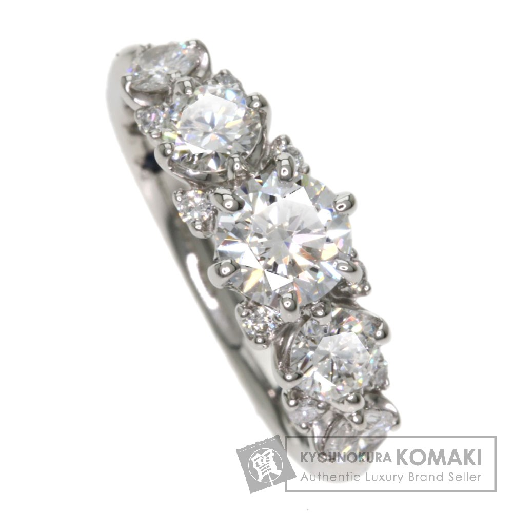 0.717ct ダイヤモンド リング・指輪 プラチナPT950 5.6g レディース 【中古】