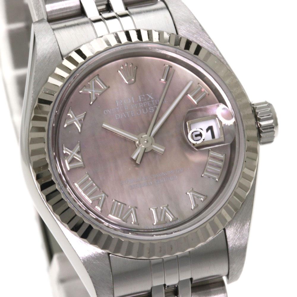 fe4070ffdddf ... ROLEX 79174NR デイトジャスト 腕時計 OH済 ステンレス/SS レディース 【】【ロレックス】 ...