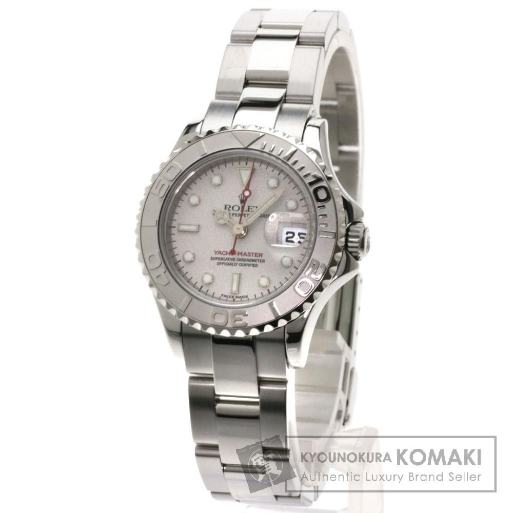 ROLEX 169622 ヨットマスター ロレジウム 腕時計 OH済 ステンレス/SS/プラチナ レディース 【中古】【ロレックス】