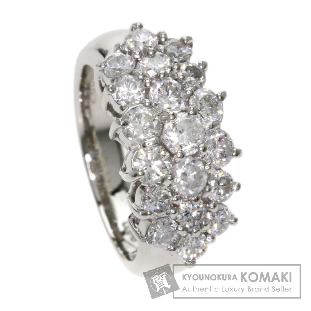 2ct ダイヤモンド リング・指輪 プラチナPT900 11.3g レディース 【中古】