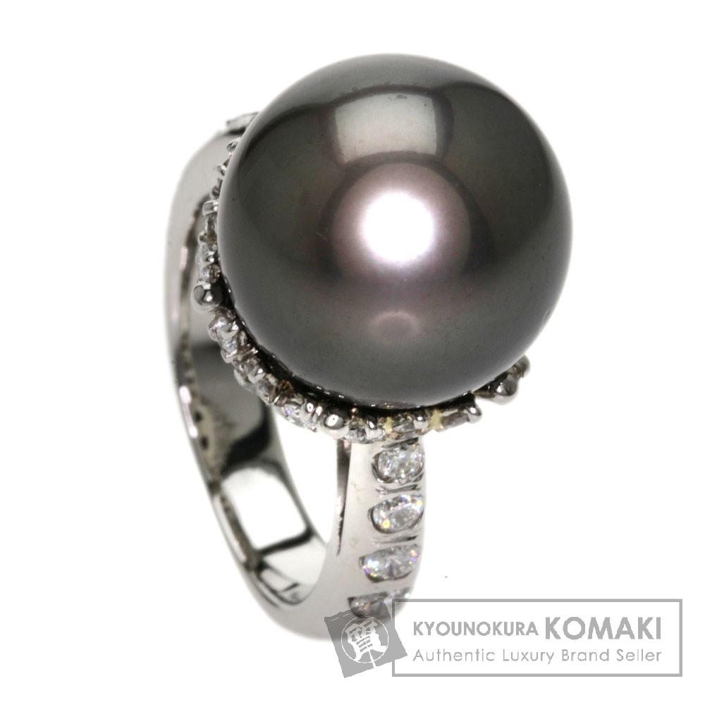 1.5ct 真珠/ダイヤモンド リング・指輪 プラチナPT900 13.4g レディース 【中古】