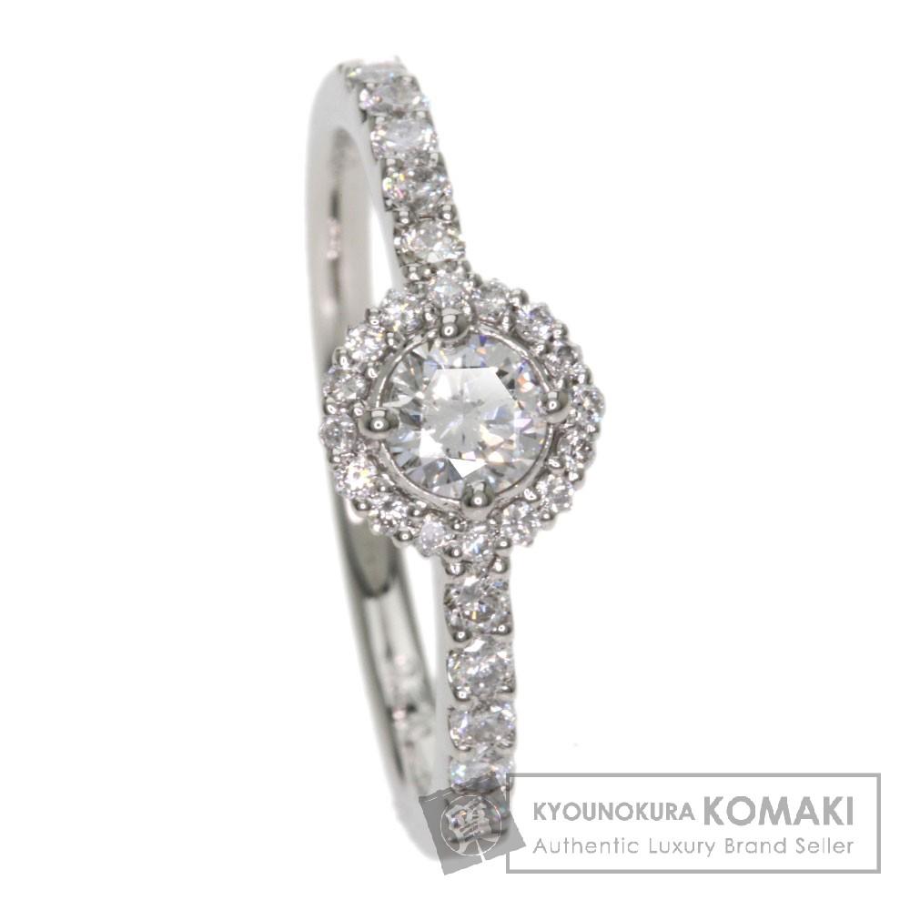 0.2ct ダイヤモンド リング・指輪 プラチナPT900 2.7g レディース 【中古】