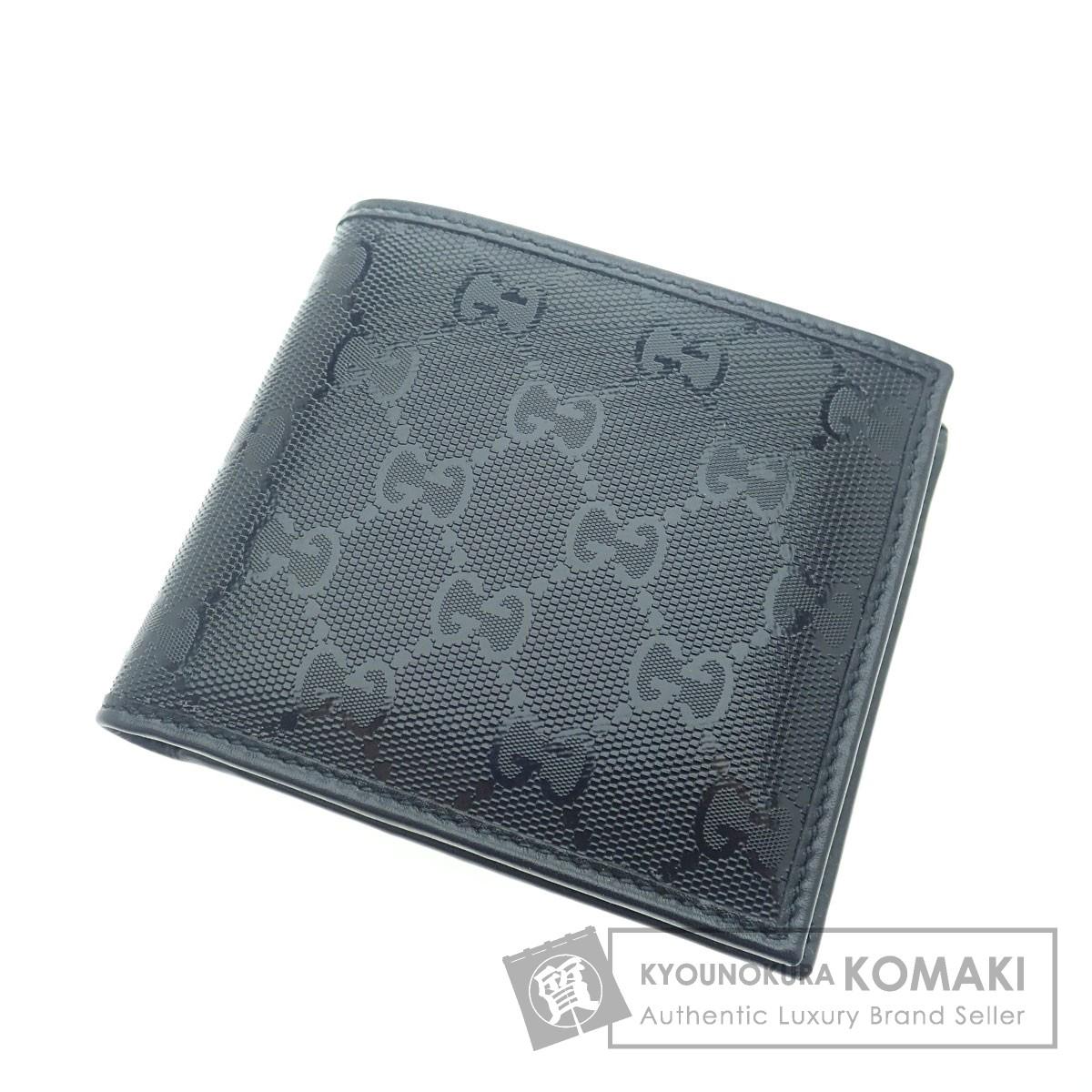 GUCCI GGインプリメ 二つ折り財布(小銭入れあり) PVC メンズ 【中古】【グッチ】