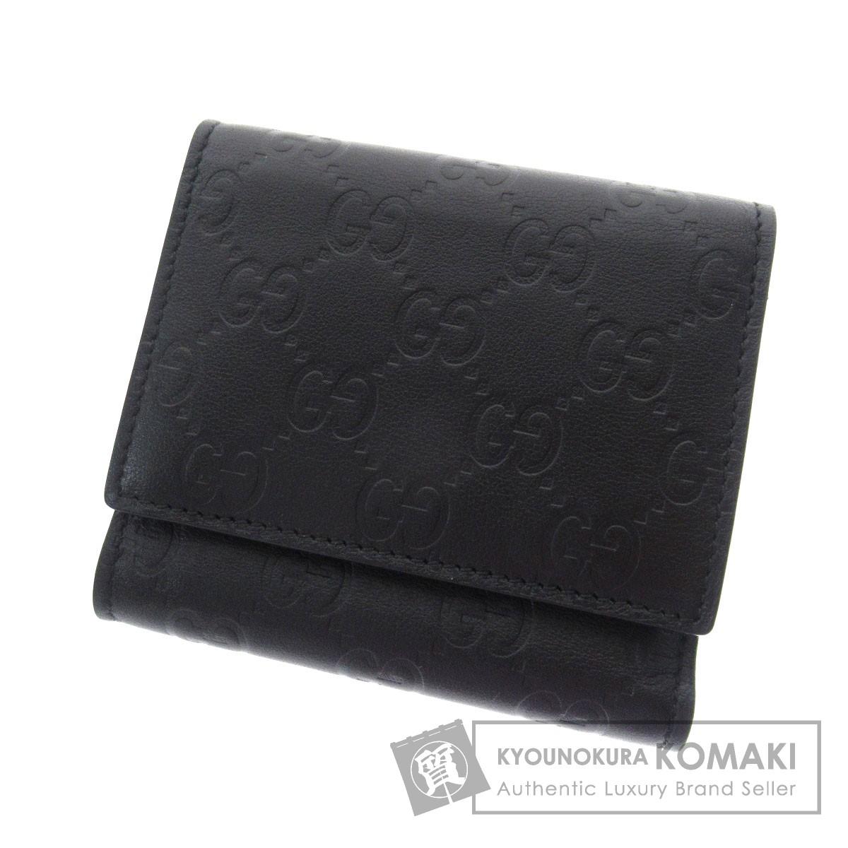 GUCCI 268533 グッチシマ 二つ折り財布(小銭入れあり) レザー メンズ 【中古】【グッチ】