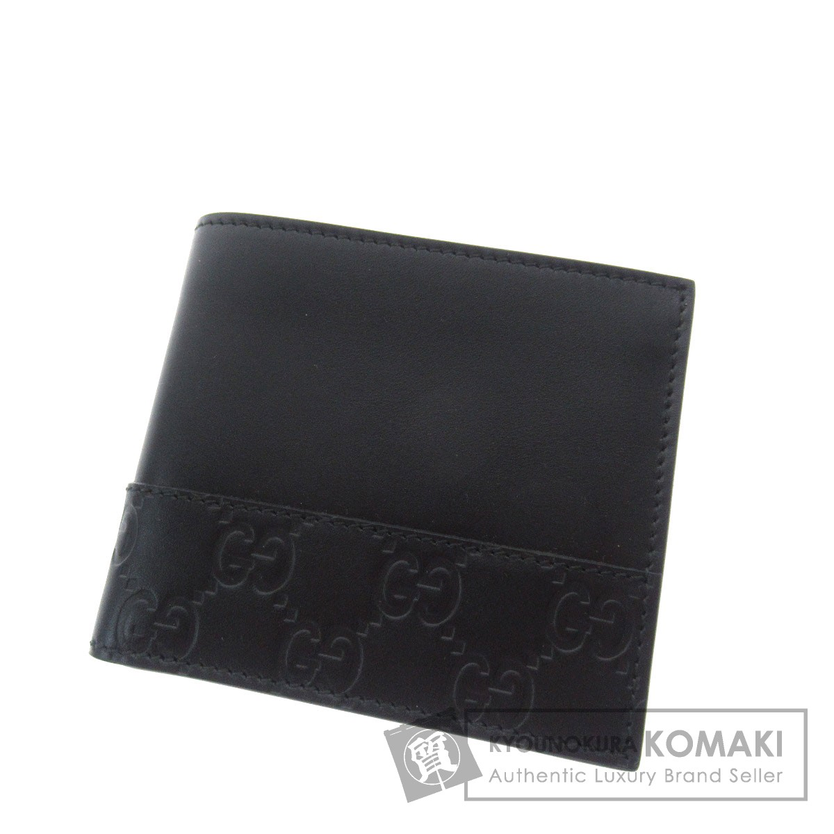 GUCCI グッチシマ 二つ折り財布(小銭入れあり) レザー メンズ 【中古】【グッチ】