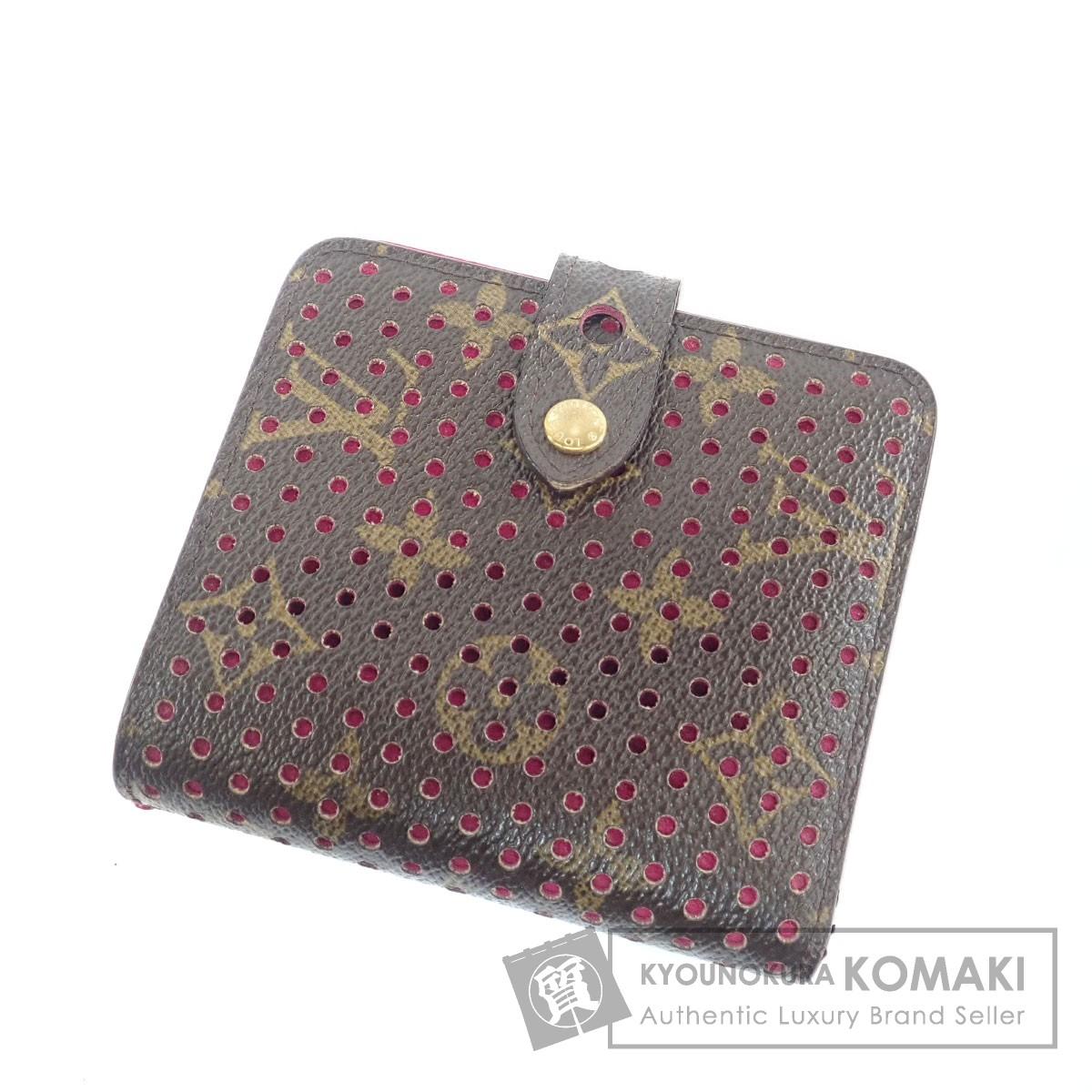 LOUIS VUITTON M95188 ペルフォ コンパクトジップ 二つ折り財布(小銭入れあり) モノグラムキャンバス レディース 【中古】【ルイ・ヴィトン】