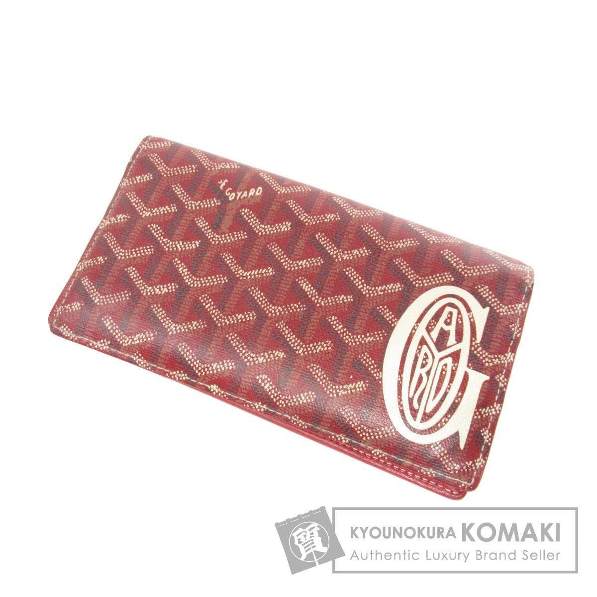 GOYARD ロゴモチーフ 長財布(小銭入れあり) レザー レディース 【中古】【ゴヤール】