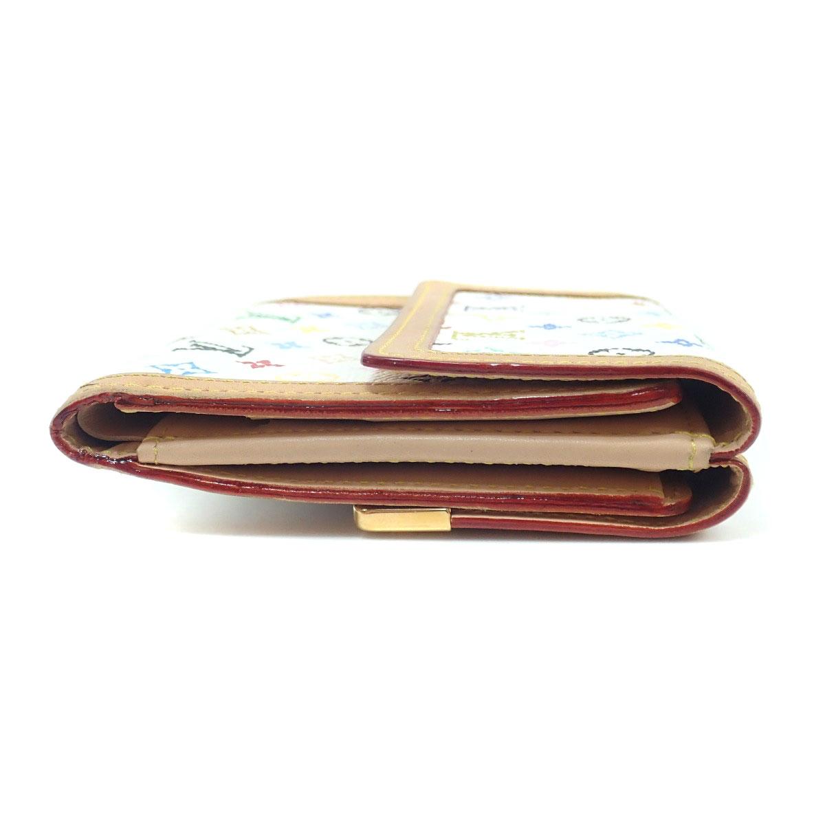 3ea4c2c05f04 LOUIS VUITTON M92983 Wホック モノグラムマルチカラーキャンバス レディース 【中古】【ルイ・ヴィトン】 二つ折り財布 (小銭入れあり)-レディース財布