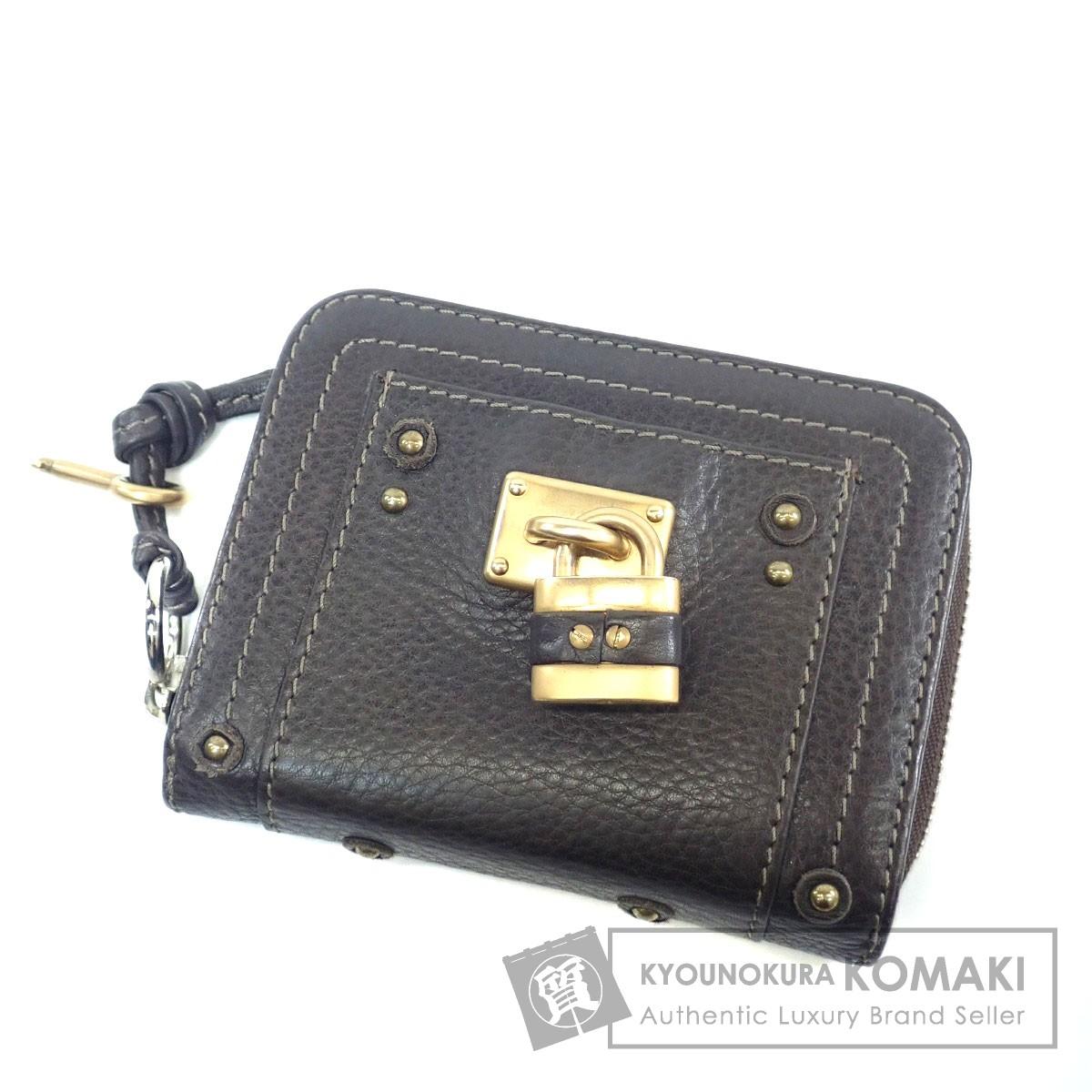 CHLOE カデナモチーフ 二つ折り財布(小銭入れあり) カーフ レディース 【中古】【クロエ】