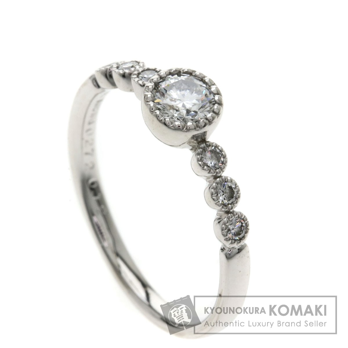 0.272ct ダイヤモンド リング・指輪 K18ホワイトゴールド 2.2g レディース 【中古】