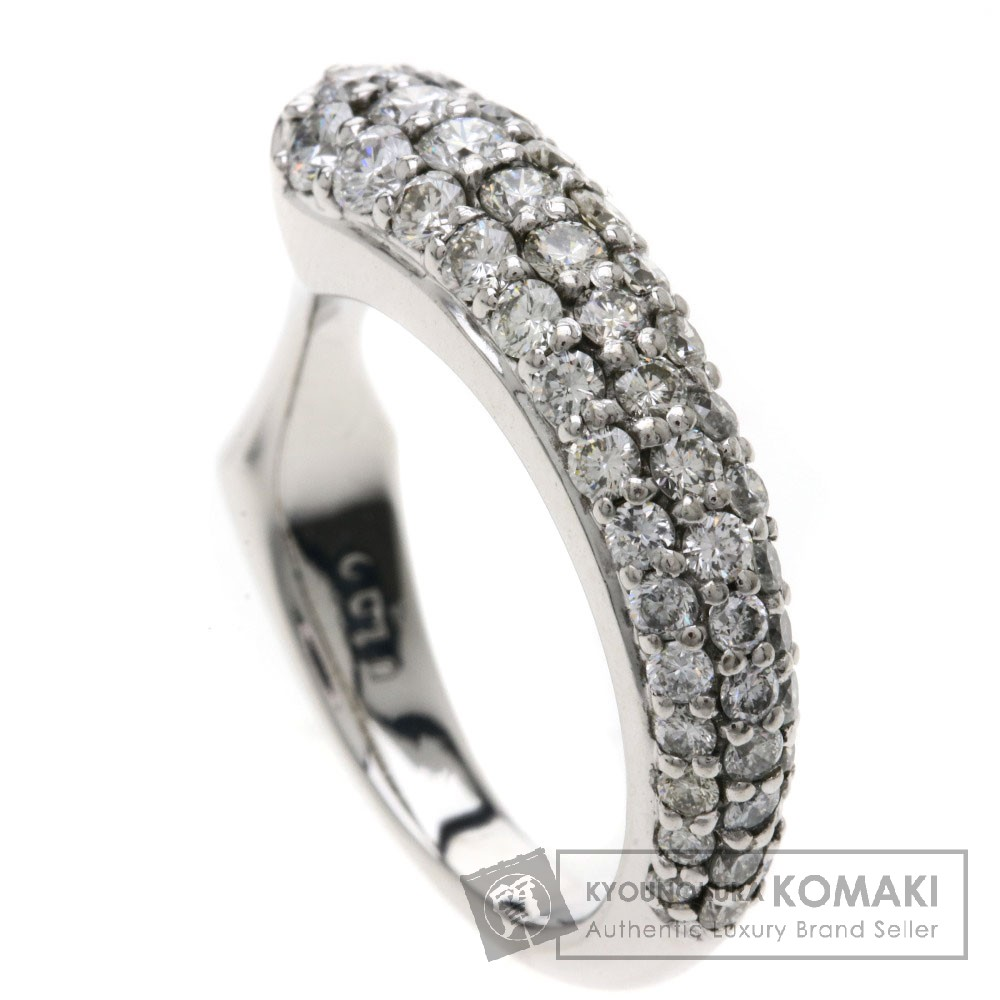 1ct ダイヤモンド リング・指輪 K18ホワイトゴールド 6g レディース 【中古】