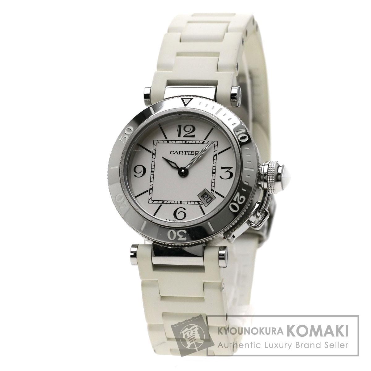 CARTIER パシャ シータイマー 腕時計 ステンレス/ラバー レディース 【中古】【カルティエ】