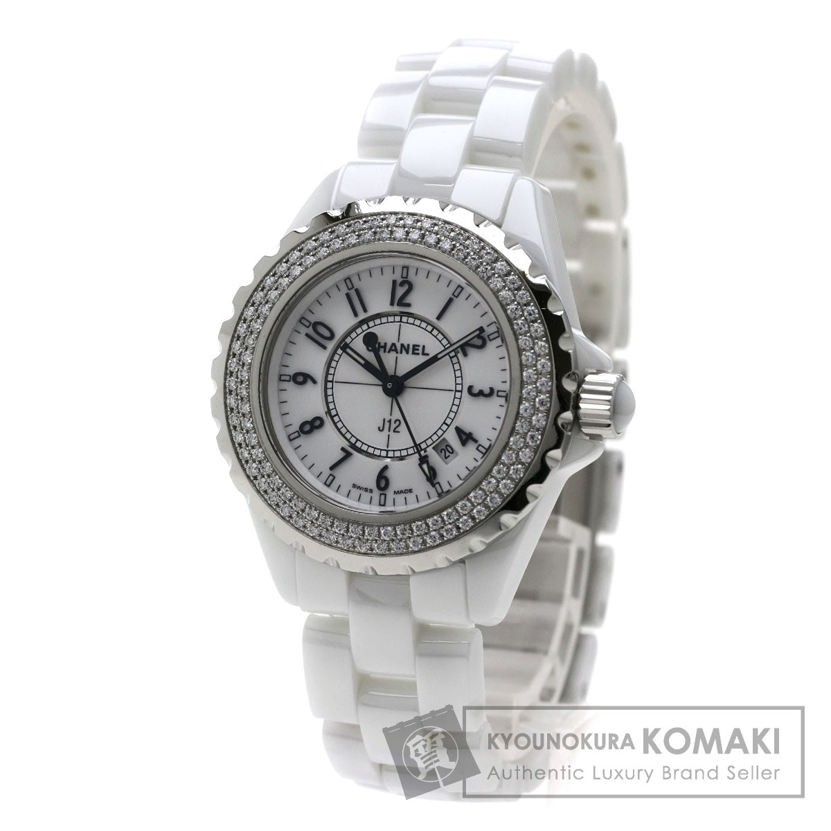 CHANEL H0967 J12 33 腕時計 セラミック/セラミック/ダイヤモンド レディース 【中古】【シャネル】