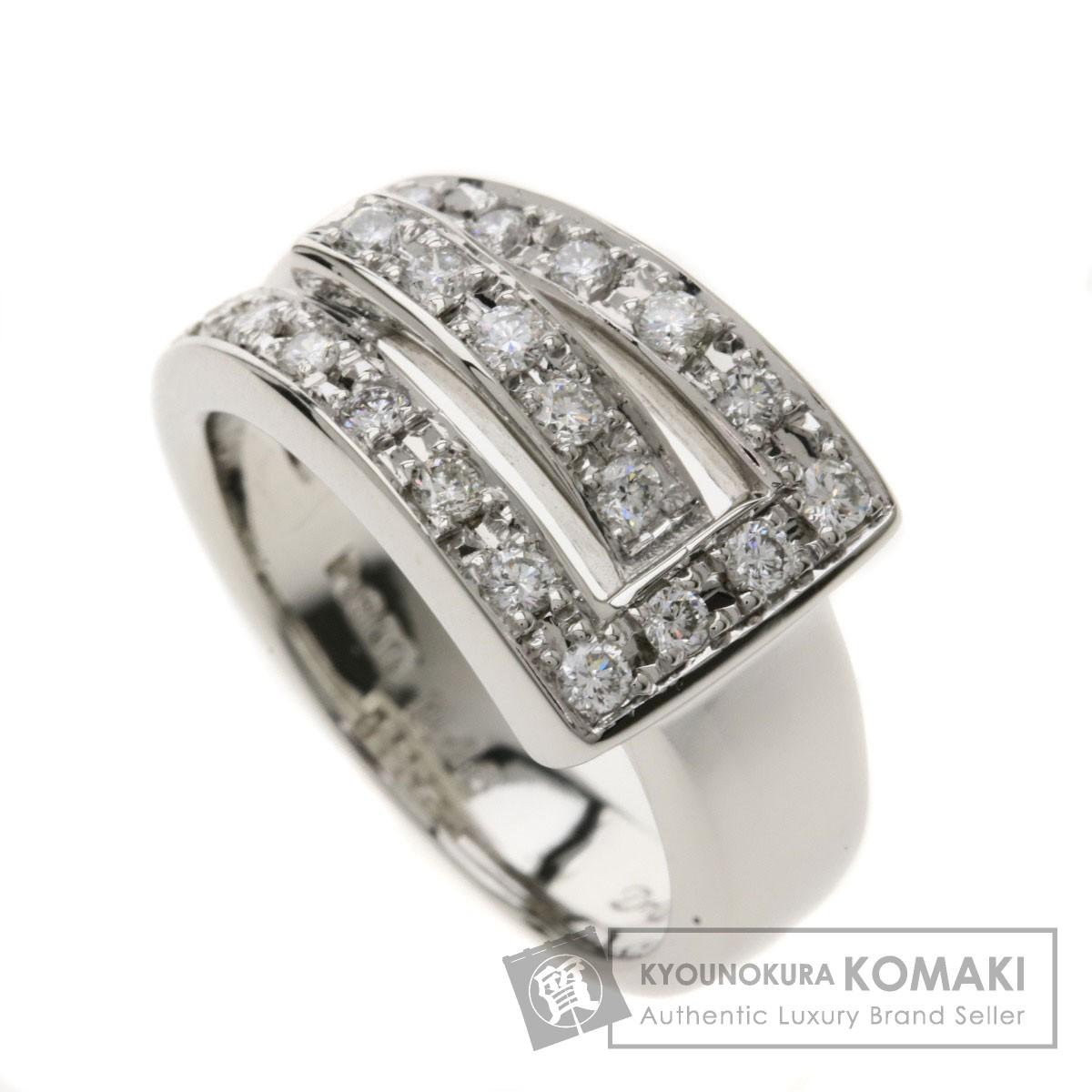 0.46ct ダイヤモンド リング・指輪 プラチナPT900 10.7g レディース 【中古】
