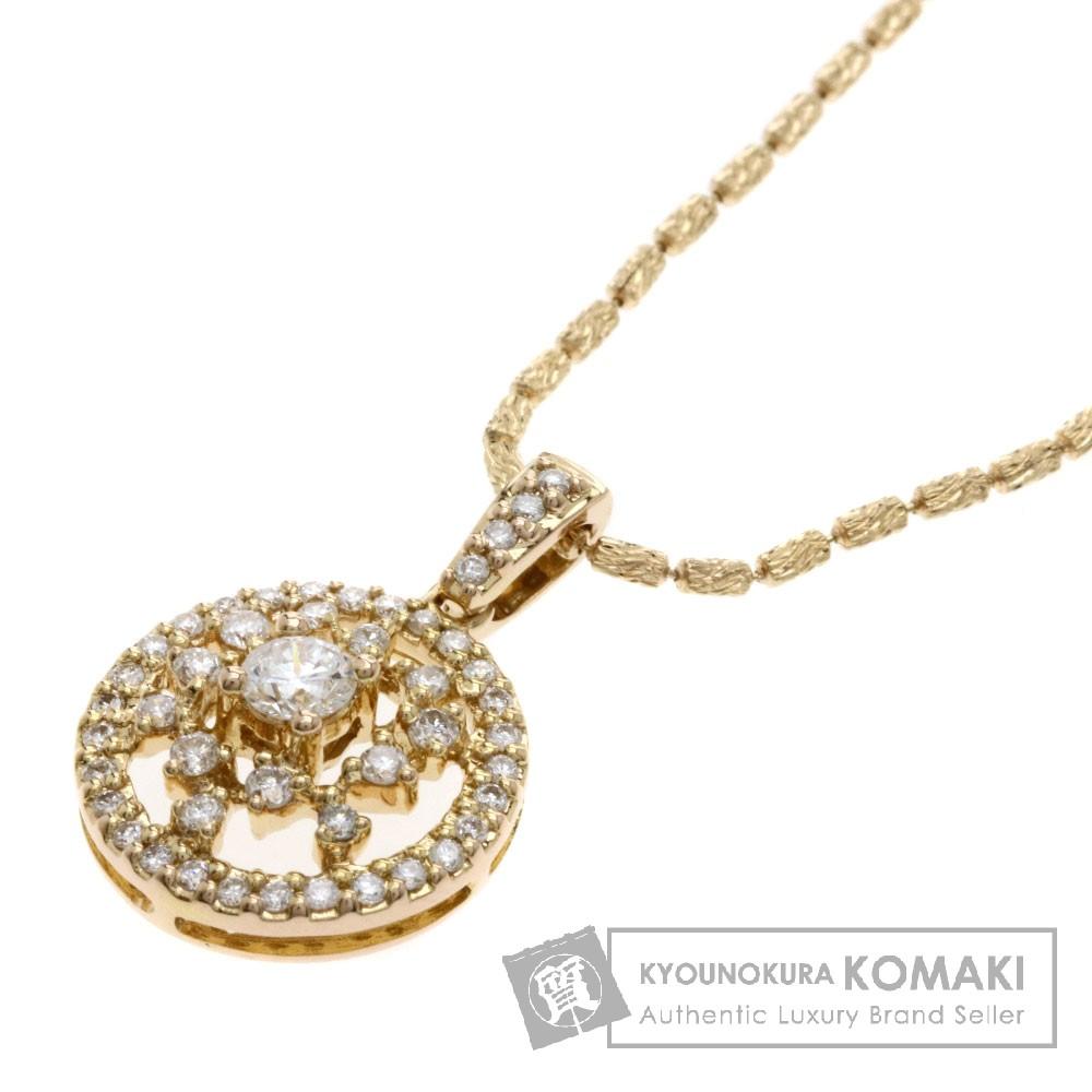 0.5ct ダイヤモンド ネックレス K18ピンクゴールド 5.2g レディース 【中古】