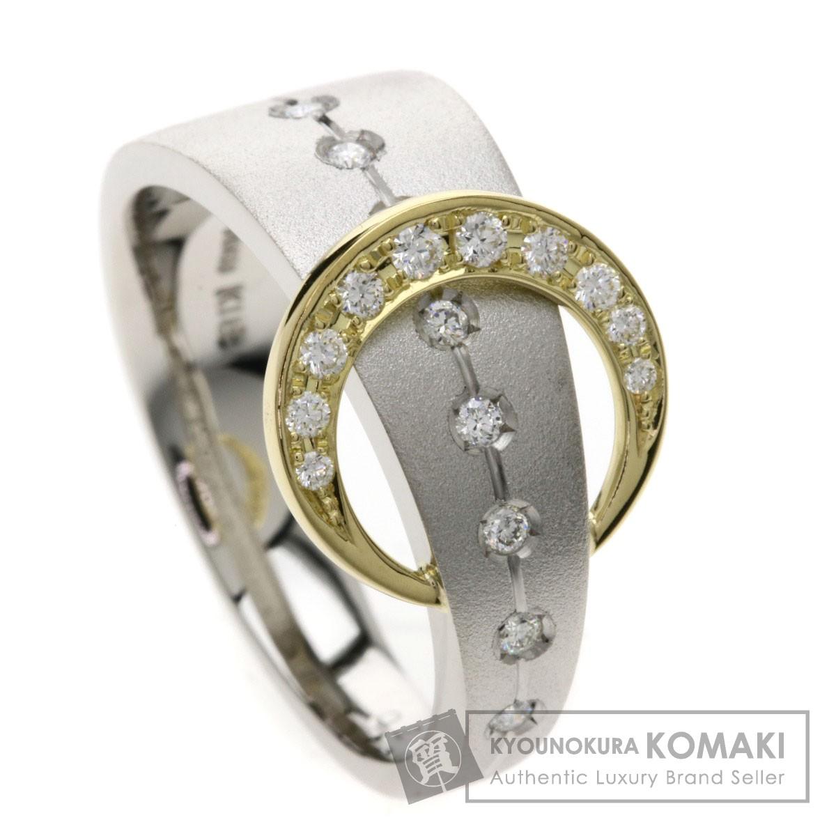 0.21ct ダイヤモンド リング・指輪 プラチナPT900/K18YG 9.3g レディース 【中古】