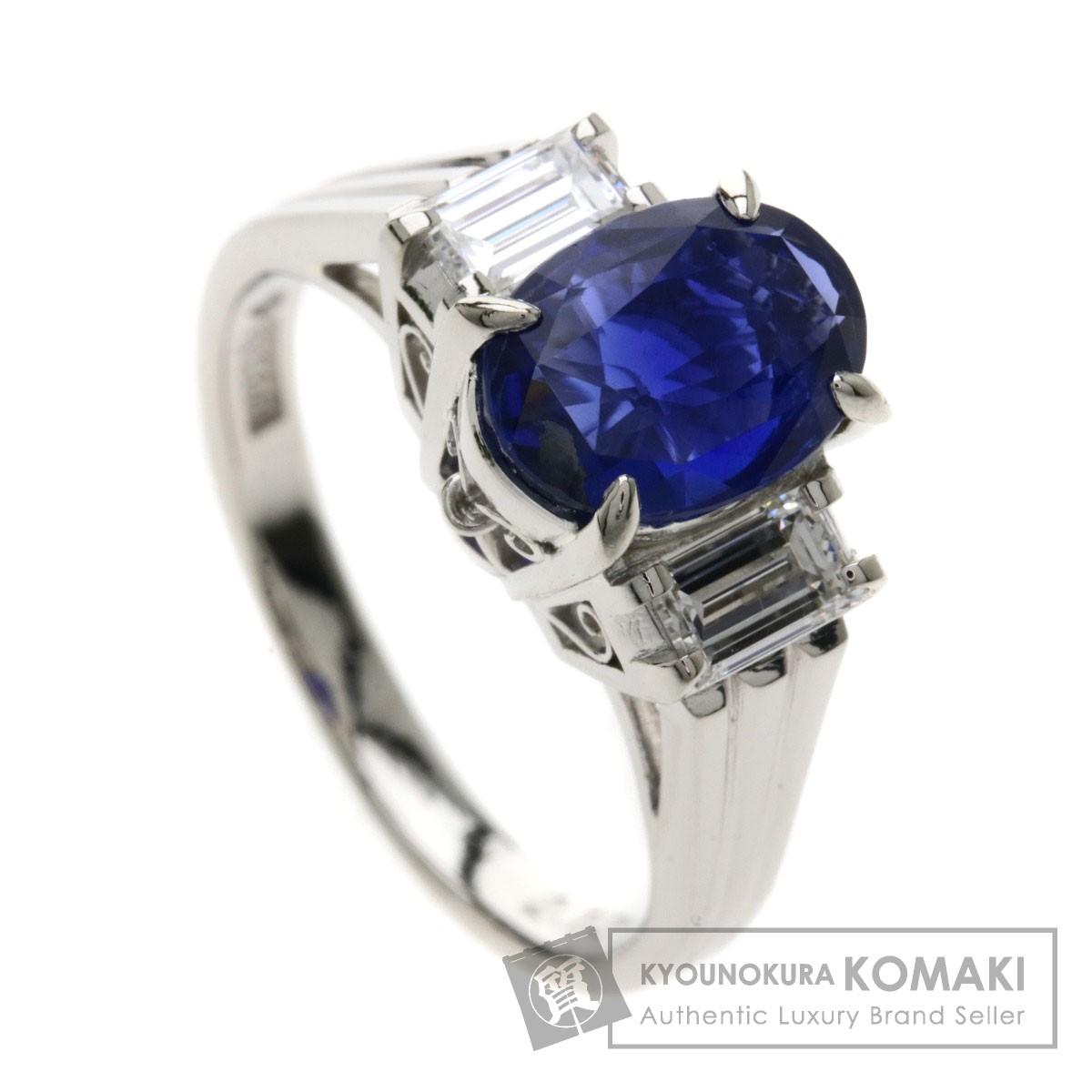 2.12ct サファイヤ/ダイヤモンド リング・指輪 プラチナPT900 5.3g レディース 【中古】