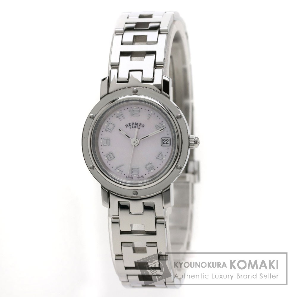 HERMES CL4.210 クリッパーナクレ  腕時計 ステンレス/SS レディース 【中古】【エルメス】