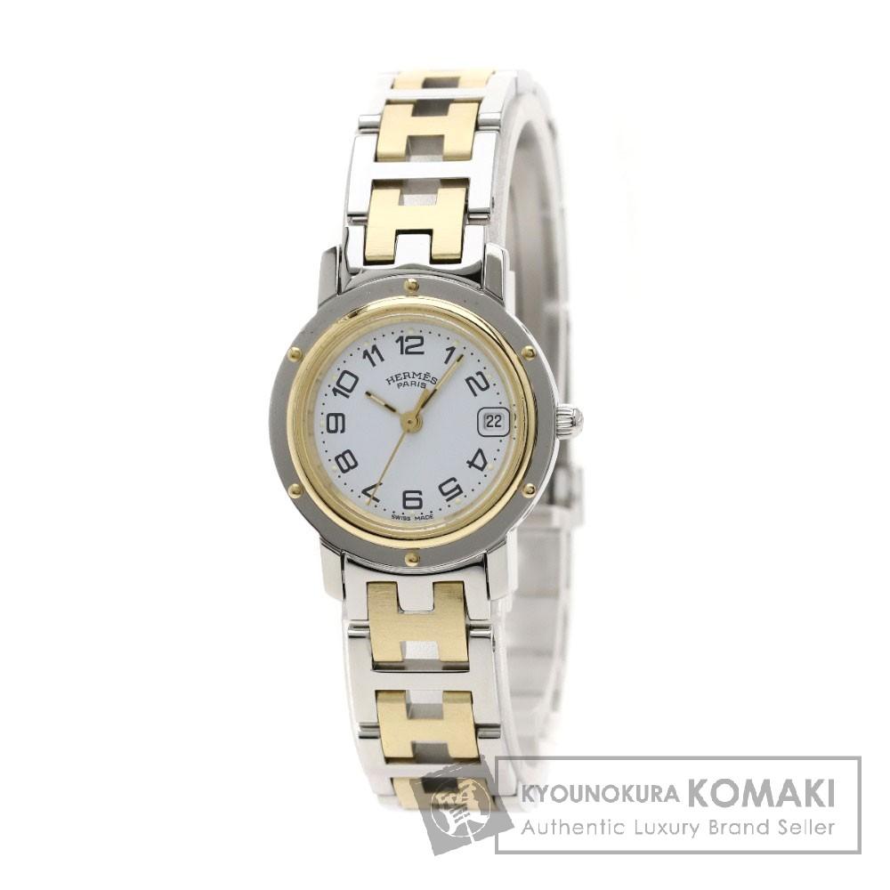 HERMES CL4.220 クリッパー 腕時計 ステンレス/コンビ レディース 【中古】【エルメス】