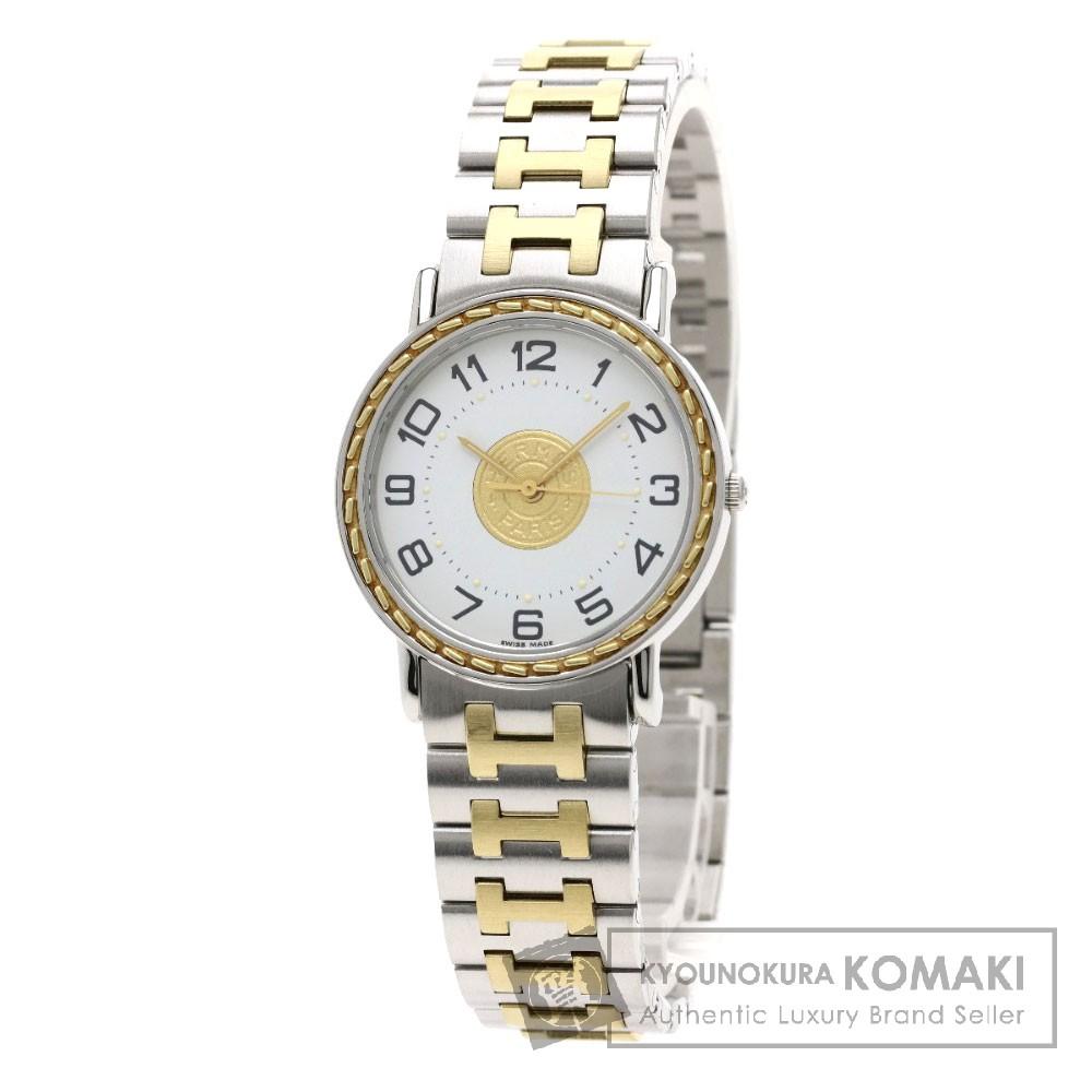 HERMES SE3.240 セリエ 腕時計 ステンレス/コンビ ボーイズ 【中古】【エルメス】