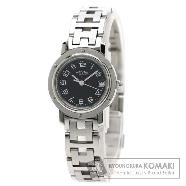 HERMES CL4.210 クリッパー 腕時計 ステンレス/SS レディース 【中古】【エルメス】