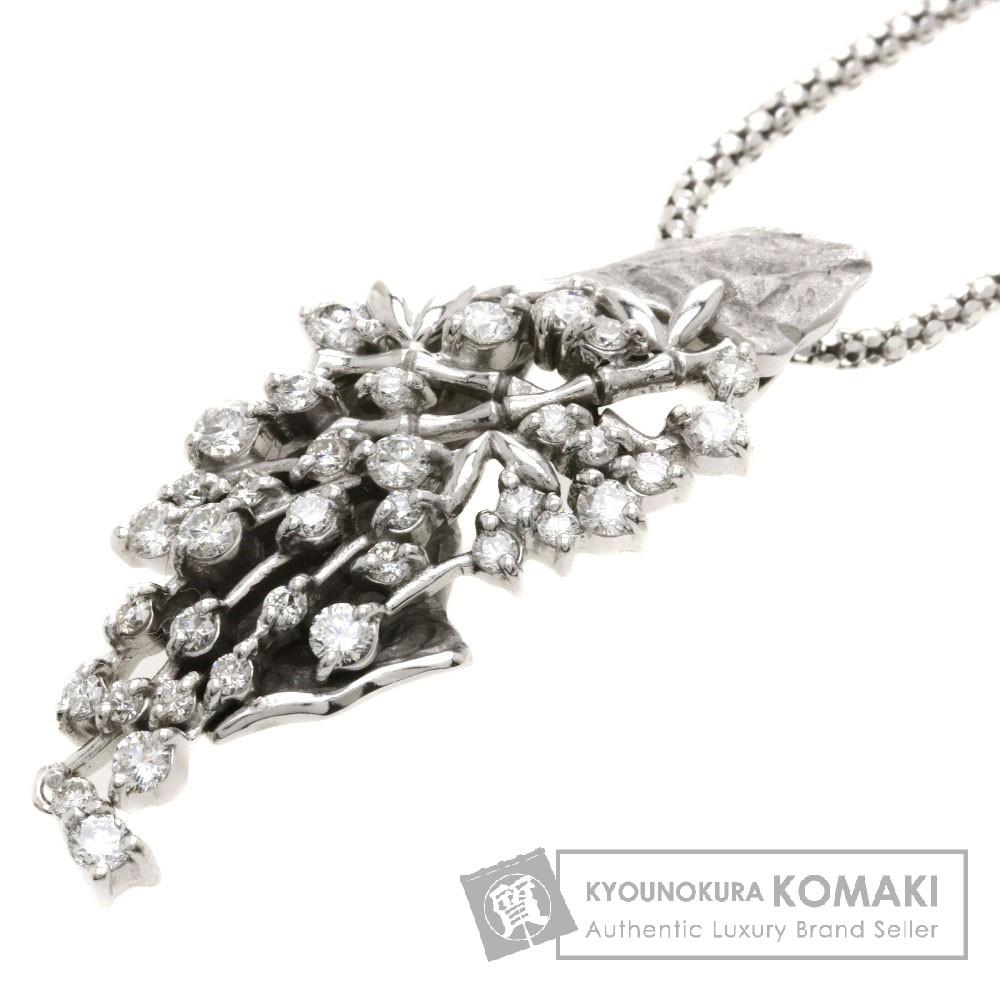D1.00ct ダイヤモンド ネックレス K18ホワイトゴールド 16.5g レディース 【中古】