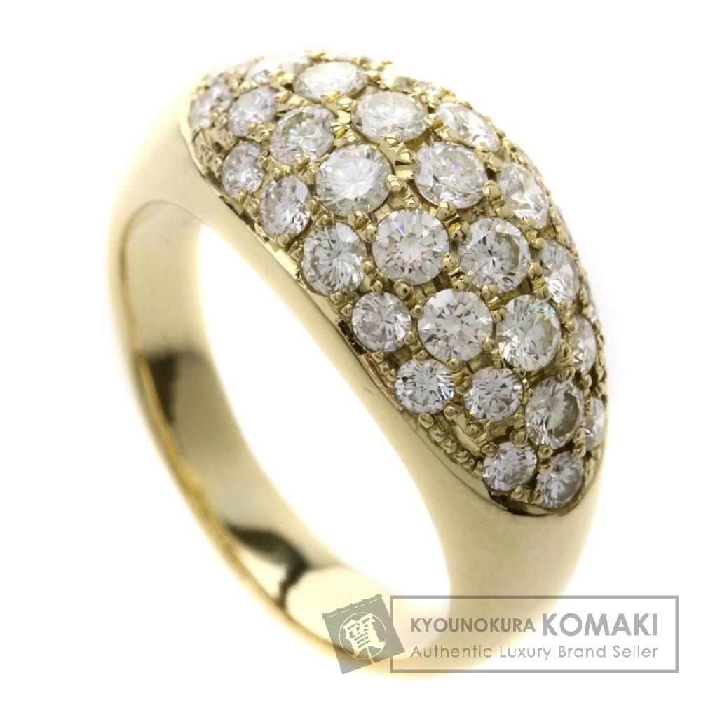 D1.50ct ダイヤモンド リング・指輪 K18イエローゴールド 6.6g レディース 【中古】