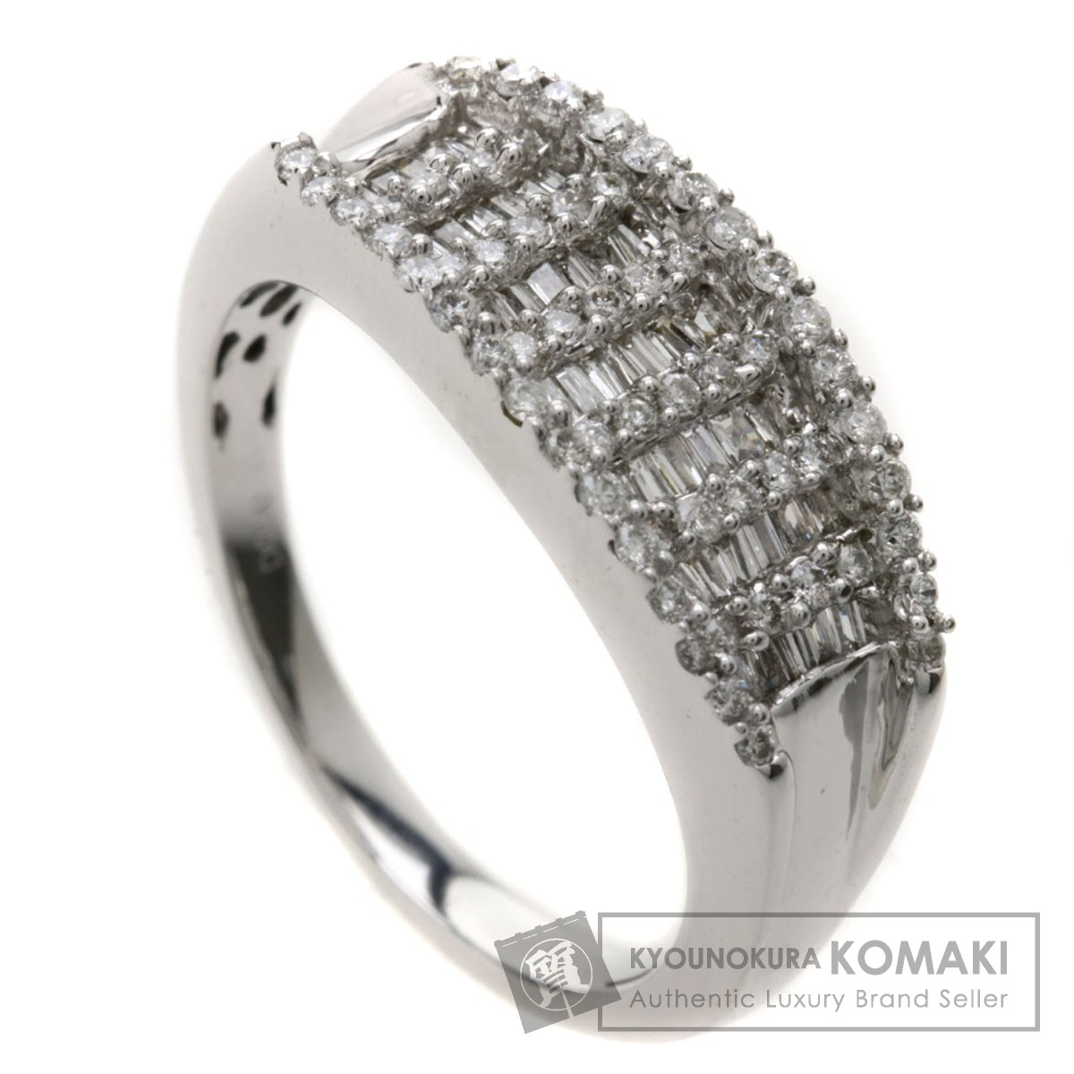 D0.50ct ダイヤモンド リング・指輪 K18ホワイトゴールド 4.5g レディース 【中古】