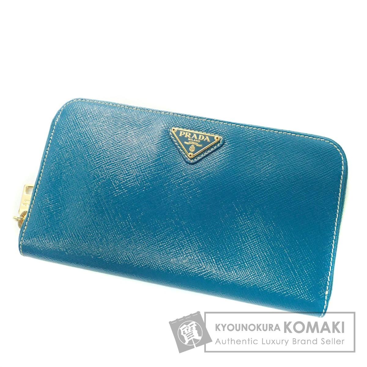 PRADA ロゴマーク 長財布(小銭入れあり) PVC レディース 【中古】【プラダ】