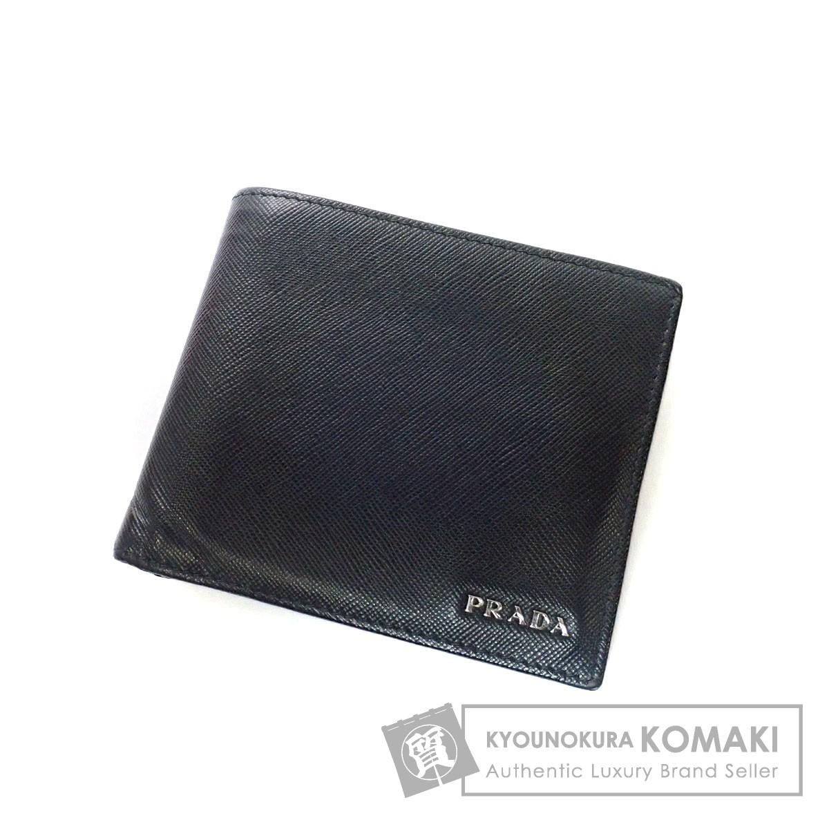 3b1fe7aed0ea PRADA 2M0738 二つ折り財布(小銭入れあり) レザー メンズ 【中古】【プラダ】 最新の激安