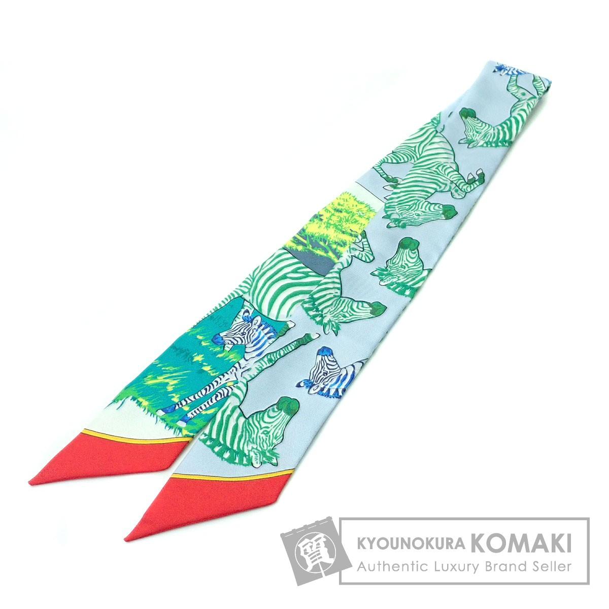 HERMES ツイリー/シマウマ/LES ZEBRES スカーフ シルク レディース 【中古】【エルメス】