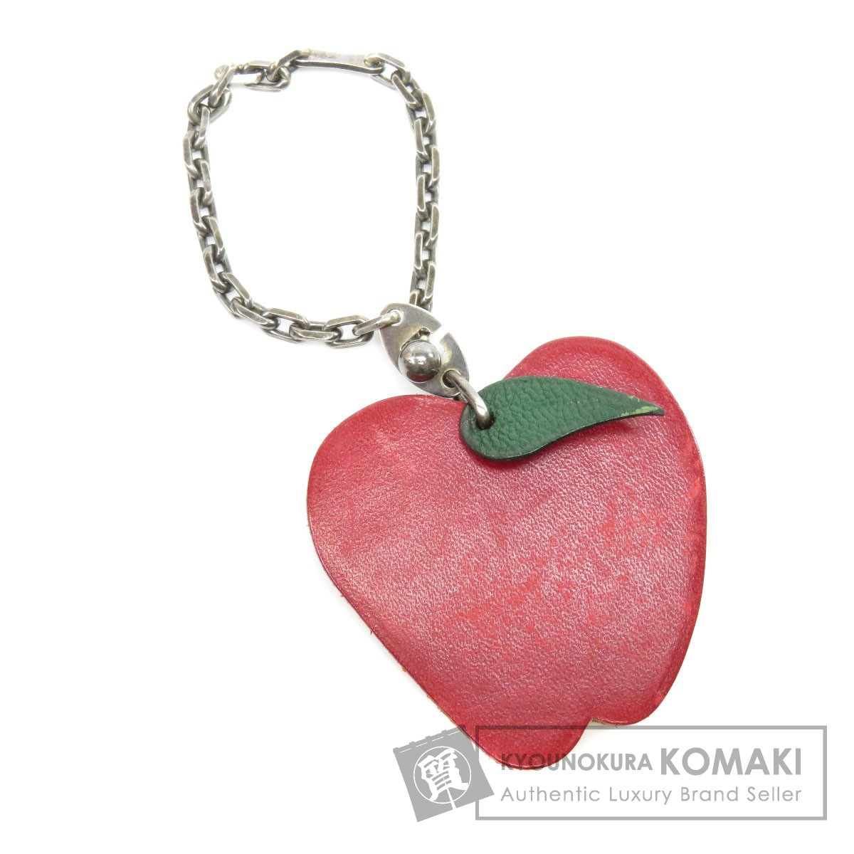 HERMES リンゴモチーフ キーホルダー レザー レディース 【中古】【エルメス】